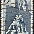 CANADA - CIRCA 1968: A stamp printed in Canada issued for the 50th Anniversary of 1918 Armistice, shows the Armistice Monument, Vimy, circa 1968. — Stock Photo #11613240