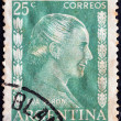 ARGENTINA - CIRCA 1952: A stamp printed in Argentina shows Eva Peron, circa 1952. — Stock Photo