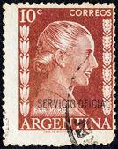Argentina - intorno al 1952: un timbro stampato in argentina dimostra di eva peron, intorno al 1952. — Foto Stock