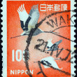 JAPAN - CIRCA 1966: A stamp printed in Japan shows Manchurian (Japanese) Cranes, circa 1966. - Stock Photo