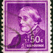 "USA - CIRCA 1954: A stamp printed in USA from the ""Liberty"" issue shows American civil rights leader Susan Brownell Anthony, circa 1954. — Stock Photo"