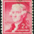 USA - CIRCA 1954: A stamp printed in USA from the &amp;quot;Liberty&amp;quot; issue shows the third President of the United States Thomas Jefferson, circa 1954. - Stockfoto