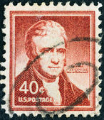 "USA - CIRCA 1954: A stamp printed in USA from the ""Liberty"" issue shows 4th Chief Justice of the Supreme Court John Marshall, circa 1954. — Stock Photo"