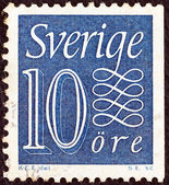 SWEDEN - CIRCA 1951: A stamp printed in Sweden shows it's value, circa 1951. — Stock Photo