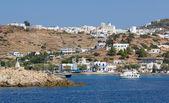 View of Chorio and Psathi village, Kimolos island, Cyclades, Greece — Stock Photo