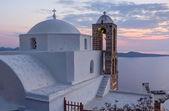 Kościół Panagia thalassitra zachód słońca, milos island, Cyklady, Grecja — Zdjęcie stockowe