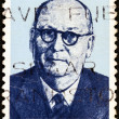SOUTH AFRICA - CIRCA 1974: A stamp printed in South Africa issued for the birth centenary of Daniel Francois Malan shows a portait of prime minister Daniel Francois Malan, circa 1974. — Stock Photo #12333504