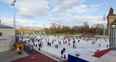 City Park ice rink , Budapest, Hungary — Stock Photo