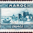 FRENCH MOROCCO - CIRCA 1933: A stamp printed in Morocco shows Rabat, circa 1933. — Stock Photo #12527593