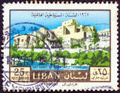 """LEBANON - CIRCA 1967: A stamp printed in Lebanon from the """"1967 International year of tourism"""" issue shows Tripoli city, circa 1967. — Stock Photo"""