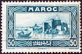 FRENCH MOROCCO - CIRCA 1933: A stamp printed in Morocco shows Rabat, circa 1933. — Stock Photo