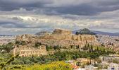 Acropolis under a dramatic sky, Athens, Greece — Stock Photo