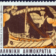 "GREECE - CIRCA 1983: A stamp printed in Greece from the ""Homeric epics"" issue shows Odysseus and Sirens, circa 1983. — Stock Photo #12541228"