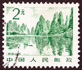 "CHINA - CIRCA 1981: A stamp printed in China from the ""China Scenery"" issue shows Guilin, circa 1981. — Foto de Stock"