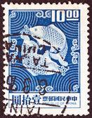 TAIWAN - CIRCA 1969: A stamp printed in Taiwan shows Double Carp, circa 1969. — Stock Photo