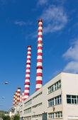 Power plant chimneys — Stock Photo