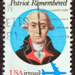 USA - CIRCA 1980: A stamp printed in USA shows a portrait of Italian physician and patriot Philip Mazzei, circa 1980. - Stock Photo