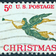 USA - CIRCA 1965: A stamp printed in USA issued for Christmas shows Angel Gabriel blowing his horn, circa 1965. — Stock Photo