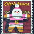 USA - CIRCA 1979: A stamp printed in USA issued for Christmas shows a Santa Claus Christmas tree ornament, circa 1979. — Stock Photo