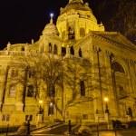 Saint Stephen basilica night view, Budapest, Hungary — Stock Photo