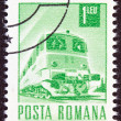 ROMANIA - CIRCA 1967: A stamp printed in Romania shows a Diesel-electric train, circa 1967. — Stock Photo