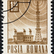 Stock Photo: ROMANI- CIRC1967: stamp printed in Romanishows Radio station, circ1967.