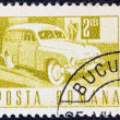 ROMANIA - CIRCA 1967: A stamp printed in Romania shows a Postal van, circa 1967. — Stock Photo