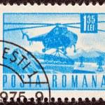 ROMANIA - CIRCA 1967: A stamp printed in Romania shows a Mil Mi-4 helicopter, circa 1967. — Stock Photo #12674228