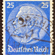 GERMANY - CIRCA 1933: A stamp printed in Germany shows President Paul von Hindenburg, circa 1933. — Stock Photo