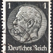 Royalty-Free Stock Photo: GERMANY - CIRCA 1933: A stamp printed in Germany shows President Paul von Hindenburg, circa 1933.