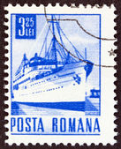 ROMANIA - CIRCA 1967: A stamp printed in Romania shows the ''Transylvania'' liner, circa 1967. — Zdjęcie stockowe