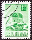ROMANIA - CIRCA 1967: A stamp printed in Romania shows a Diesel-electric train, circa 1967. — Stockfoto