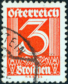 AUSTRIA - CIRCA 1925: A stamp printed in Austria shows numeric value, circa 1925. — Stock Photo