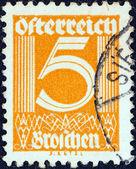 AUSTRIA - CIRCA 1925: A stamp printed in Austria shows numeric value, circa 1925. — Photo