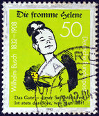GERMANY - CIRCA 1982: A stamp printed in Germany issued for the 150th Birth anniversary of writer and illustrator Wilhelm Busch shows Good Helene, circa 1982. — Stock Photo