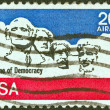 USA - CIRCA 1974: A stamp printed in USA shows Mount Rushmore National Memorial, circa 1974. — Stock Photo