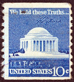 USA - CIRCA 1973: A stamp printed in USA from shows Jefferson Memorial, circa 1973. — Stockfoto