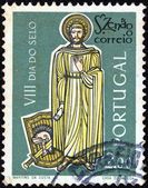 PORTUGAL - CIRCA 1962: A stamp printed in Portugal shows St. Zenon (the Courier), circa 1962. — Stock Photo