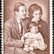 "Stock Photo: GREECE - CIRC1966: stamp printed in Greece from ""Princess Alexia's First Birthday"" issue shows Royal Family, circ1966."