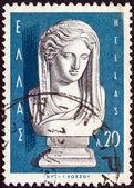 Grèce - vers 1967 : un timbre imprimé en grèce de la question de « sculpteurs grecs » montre « nuit » par ioannis cossos, circa 1967. — Photo