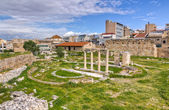 View of Ancient Agora of Athens, Greece — Stock Photo