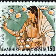 """GREECE - CIRCA 1986: A stamp printed in Greece from the """"Gods of Olympus"""" issue shows goddess Demeter, circa 1986. — Stock Photo #13251865"""