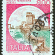 "ITALY - CIRCA 1980: A stamp printed in Italy from the ""Castles"" issue shows Rocca Maggiore, Assisi, circa 1980. — Stock Photo"