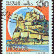 "ITALY - CIRCA 1980: A stamp printed in Italy from the ""Castles"" issue shows Aragonese Castle, Ischia, circa 1980. - Stockfoto"