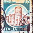 "ITALY - CIRCA 1980: A stamp printed in Italy from the ""Castles"" issue shows Ursino Castle, Catania, circa 1980. - 图库照片"