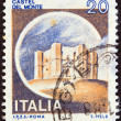 "ITALY - CIRCA 1980: A stamp printed in Italy from the ""Castles"" issue shows Castel del Monte, Andria, circa 1980. - Stock Photo"