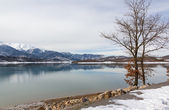 Lake Plastiras in the winter, Thessaly, Greece — Stock Photo