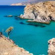 Beautiful coastline near Tsigrado, Milos island, Cyclades, Greece — Stock Photo #13373656