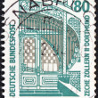 "GERMANY - CIRCA 1987: A stamp printed in Germany from the ""Tourist Sights"" issue shows Zollern II Dortmund Mine Industrial Museum, Westphalia, circa 1987. - Stock Photo"