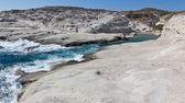 Sarakiniko beach, Milos island, Cyclades, Greece — Stock Photo